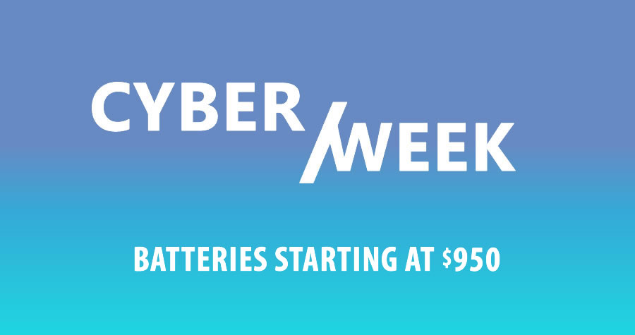 Cyber Monday Sale Prius and other batteries