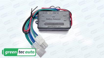 QNBBM Lighted 12v Active Battery Voltage Balancing Balancer Equalizer